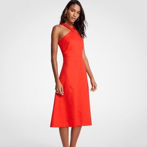 Ann Taylor Cross-Neck Midi Dress (New With Tags)